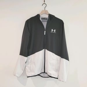 Under Armour Two Toned Windbreaker Zip Up Size M